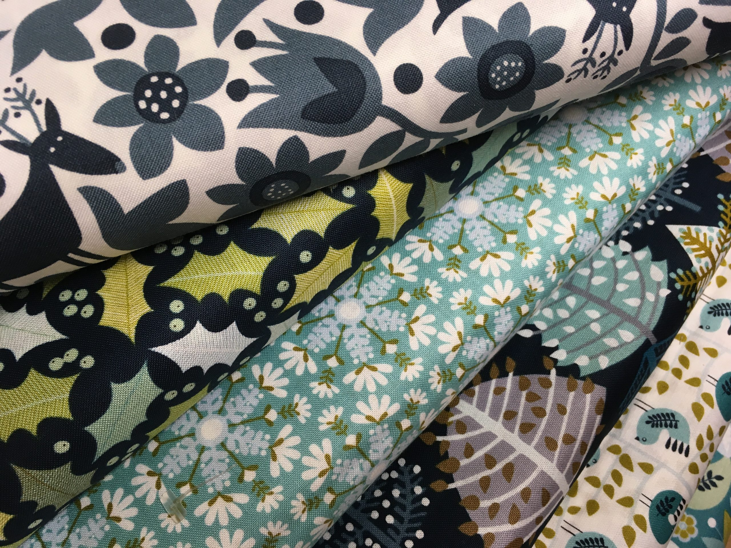 Christmas Fabric has arrived at Thimblestitch! Dashwood Snow Forest