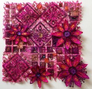 Block Printed Heat Zapped Acrylic with Kathleen Laurel Sage